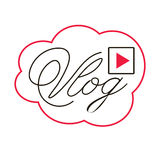 Blog or video blogging or video channel buttons. Vector illustration. Stock Photography
