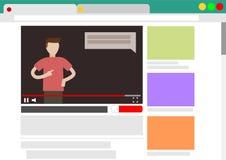 Blog video de la visión en navegador Foto de archivo libre de regalías