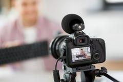 Blog visuel de enregistrement de caméra de clavier et de souris image stock
