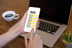BLOG Website-on-line-Internet-Webseiten-Social Media-Verbindung N Lizenzfreies Stockbild