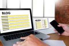 BLOG Website-on-line-Internet-Webseiten-Social Media-Verbindung N Lizenzfreies Stockbild