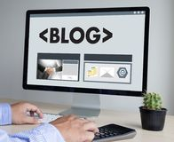 BLOG Website-on-line-Internet-Webseiten-Social Media-Verbindung N Lizenzfreies Stockfoto