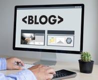BLOG Website-on-line-Internet-Webseiten-Social Media-Verbindung N Lizenzfreies Stockfoto