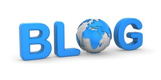 Blog. White background, 3d render Royalty Free Stock Photography