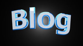 Blog white blue word Stock Photography