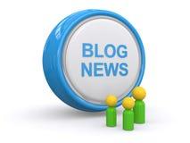 Blog wiadomość ilustracja wektor