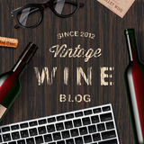 Blog about wine, wine lovers, tasting Royalty Free Stock Photography