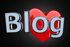 Blog With Red Heart Stock Photos