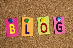 Blog word Stock Photos