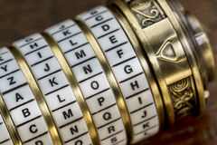 Blog word as password. Blog word as a password to combination puzzle box with rings of letters Royalty Free Stock Photography