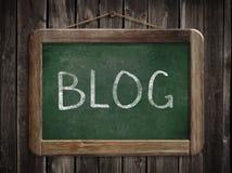 Blog word on blackboard or chalkboard Stock Photography