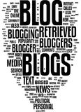 Blog word cloud. On white background Stock Photo