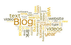 Blog word cloud. A word cloud of blog Royalty Free Stock Photography