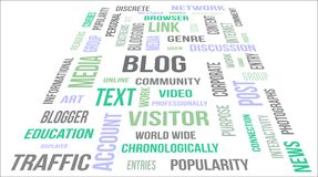 BLOG - word cloud Royalty Free Stock Images