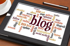 Blog word cloud Royalty Free Stock Photo