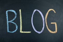 Blog Word Concept Social Media. Blog word on chalk board Royalty Free Stock Photo