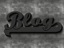 Blog word Stock Photography