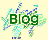 Blog Word Indicates Websites Internet And Blogging. Blog Word Showing Words Online And Site Royalty Free Stock Images