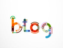 Blog word lettering banner Royalty Free Stock Image