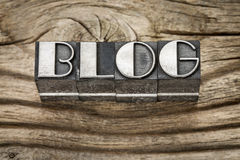 Blog word in metal type Royalty Free Stock Photography