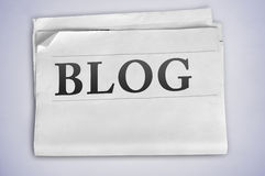 Blog word Stock Image