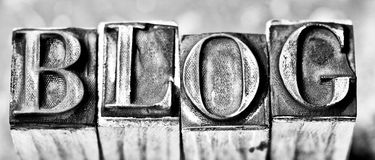 Blog word. Rubber stamp make blog word Stock Photography