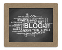 Blog word or tag cloud Royalty Free Stock Photos