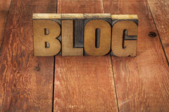 Blog word in wood type Royalty Free Stock Photography