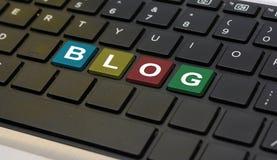 Blog Word wrritten on Laptop Keyboard closeup.  stock images