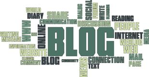 BLOG wordcloud Stock Images