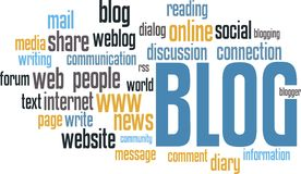 BLOG wordcloud Royalty Free Stock Photography