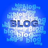Blog Words Means World Wide Web And Blogger Royalty Free Stock Images