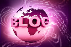 Blog and world Royalty Free Stock Photo