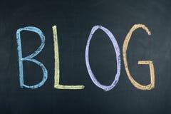 Blog-Wort-Konzept-Social Media Lizenzfreies Stockfoto