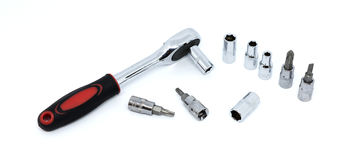 Blog wrench and Screwdriver blocks tool isolated Royalty Free Stock Image
