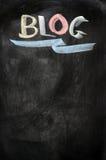 Blog written on a blackboard Royalty Free Stock Photos