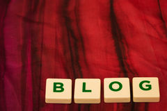 Blog written with letters Royalty Free Stock Photography
