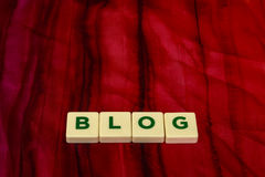 Blog written with letters Royalty Free Stock Image