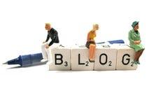 Blog y pluma Fotos de archivo