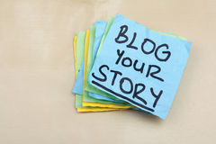 Blog Your Story Word Concept Social Media Stock Images