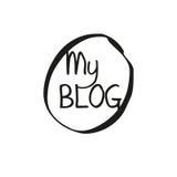 Blogabdeckung für Geschäft Stockbilder