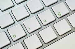 Blogcomputertastatur Lizenzfreies Stockbild