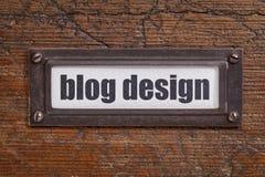 Blogdesign-Dateikennsatz Lizenzfreies Stockfoto