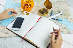 Free Bloger Planning Budget Of Trip Stock Photos - 86163593
