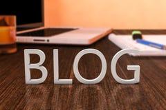Blogg Arkivbild
