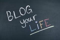 Blogg ditt liv Arkivfoton