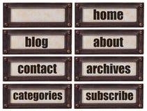 Blogg- och websiiteorduppsättning Royaltyfri Fotografi