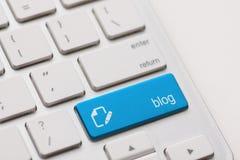 Bloggen skriver in tangent Royaltyfri Fotografi