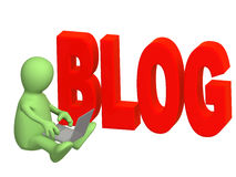 Blogger Stock Image