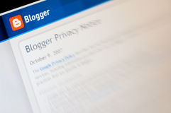 Blogger Lizenzfreies Stockbild
